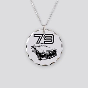1979 MG Midget Necklace Circle Charm