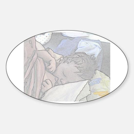 Hungry Sticker (Oval)