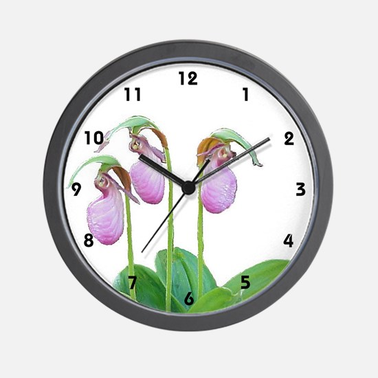 LADY SLIPPER CLUSTER Wall Clock