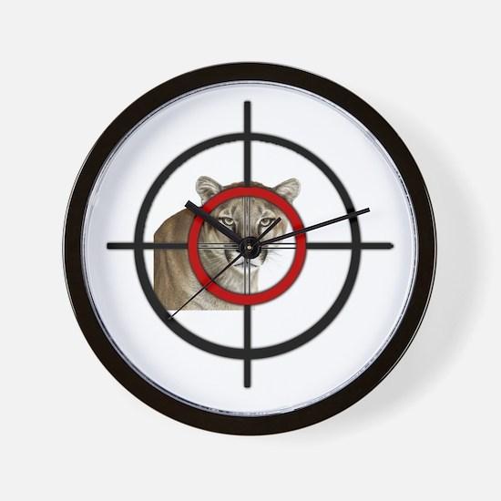 Cute Cougar hunter Wall Clock