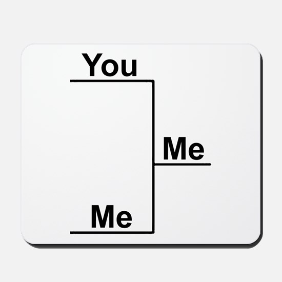 You versus Me Bracket Mousepad