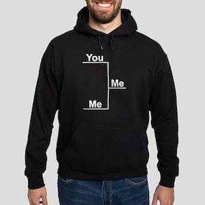 You versus Me Bracket Hoodie (dark)