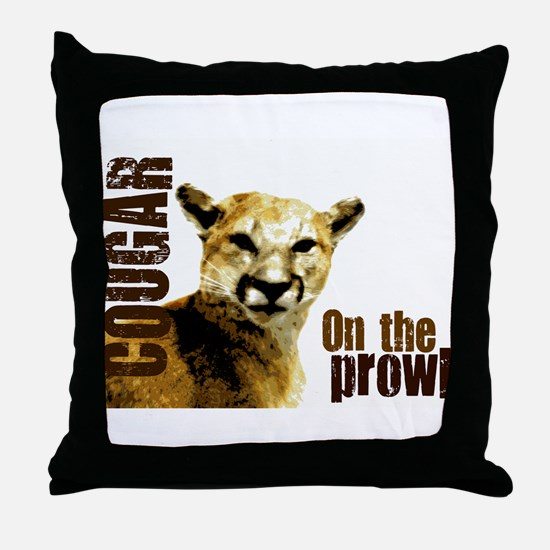 COUGAR - On The Prowl Throw Pillow