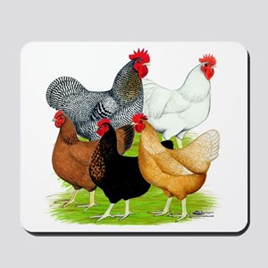 Sex-link Chicken Quintet Mousepad