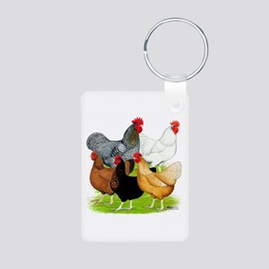Sex-link Chicken Quintet Aluminum Photo Keychain