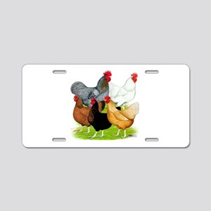 Sex-link Chicken Quintet Aluminum License Plate
