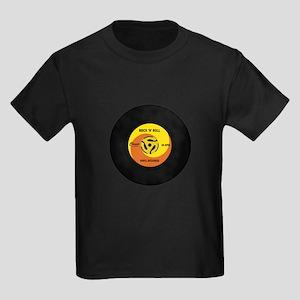 45 RPM Rock n Roll Record Kids Dark T-Shirt