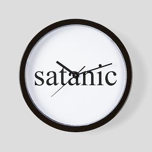 satanic Wall Clock