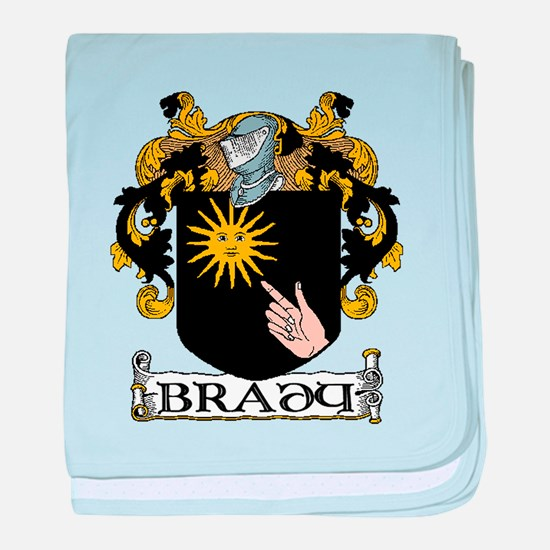 Brady Coat of Arms baby blanket