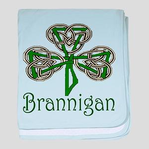 Brannigan Shamrock baby blanket