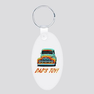 DAD'S TOY! Aluminum Oval Keychain