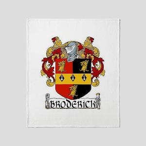 Broderick Coat of Arms Throw Blanket