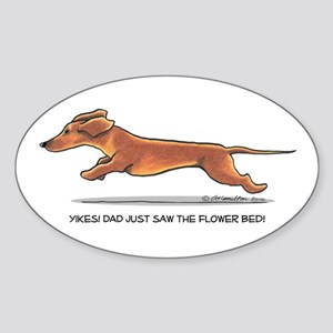 Dachshund Dad Funny Sticker (Oval)