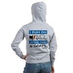 I Run On Goats! Women's Zip Hoodie Sweatshirt