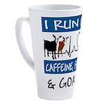 I Run on Goats! 17 oz Latte Mug