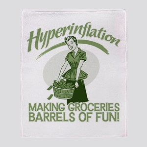 Hyperinflation Throw Blanket