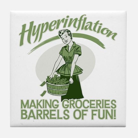 Hyperinflation Tile Coaster