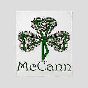 McCann Shamrock Throw Blanket