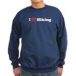 I Love Hiking Sweatshirt (dark)
