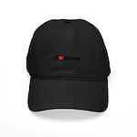 I Love Hiking Black Cap