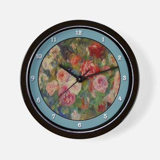 Unique Renoir rose Wall Clock