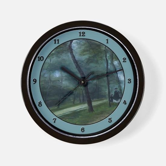 Cute Walk in the woods Wall Clock