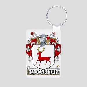 McCarthy Coat of Arms Aluminum Photo Keychain