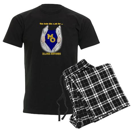 Major Obvious_ gold Lettering Men's Dark Pajamas