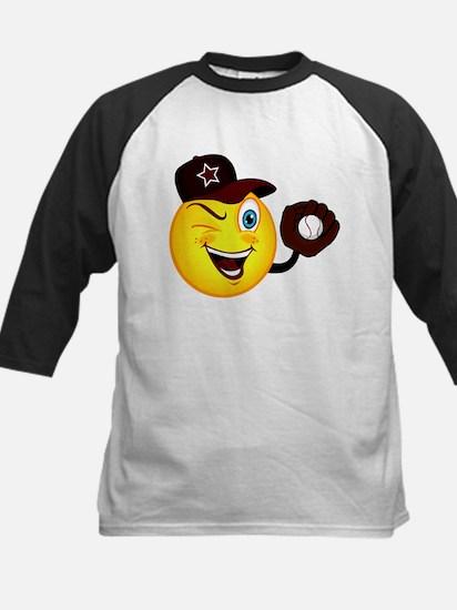 SMILEY {2} softball -crimson- Kids Baseball Jersey