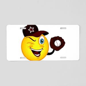 SMILEY {2} softball -crimson- Aluminum License Pla