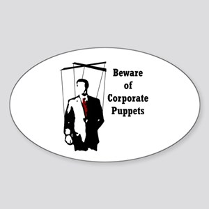 Corporate Puppet Oval Sticker