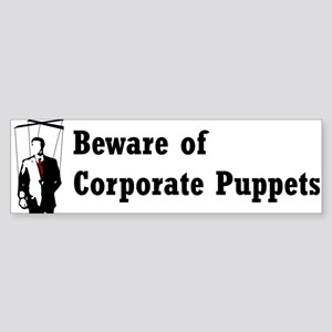 Corporate Puppet Bumper Sticker
