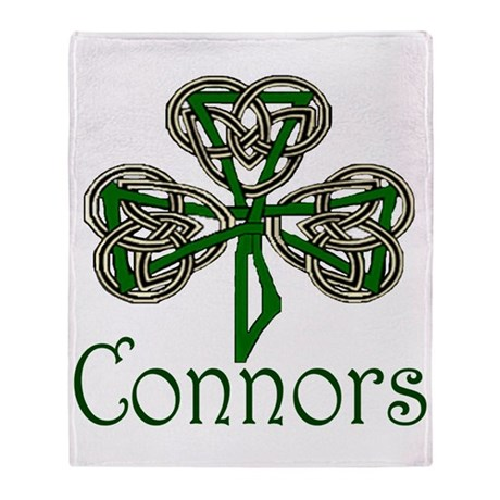 Connors Shamrock Throw Blanket