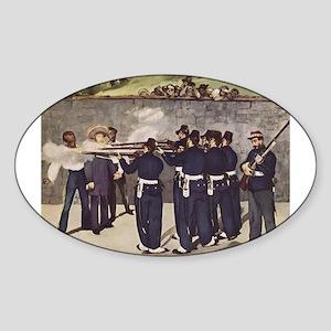 Execution of Emperor Maximill Sticker (Oval)