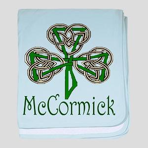 McCormick Shamrock baby blanket