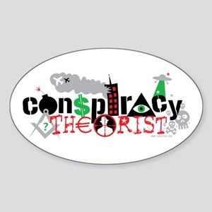 """Conspiracy Theorist"" Sticker (Oval)"
