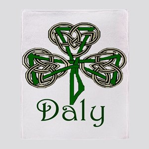 Daly Shamrock Throw Blanket