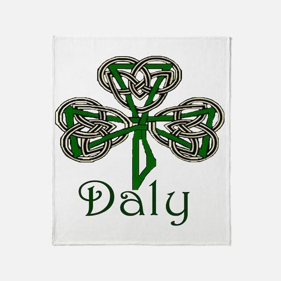 Daly Shamrock Throw Blanket