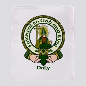 Daly Clan Motto Throw Blanket