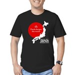 Japan Earthquake Relief Men's Fitted T-Shirt (dark