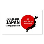 Japan Earthquake Relief Sticker (Rectangle)