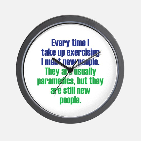 Benefits of Exercise Wall Clock