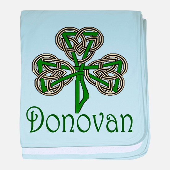 Donovan Shamrock baby blanket
