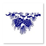 Blue Pine Cones Photo Wall Tile