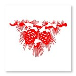 Red Pine Cones Photo Wall Tile