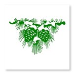 Green Pine Cones Photo Wall Tile