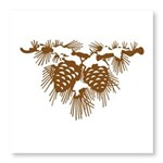 Brown Pine Cones Photo Wall Tile