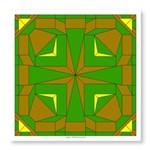 Green And Brown Photo Wall Tile