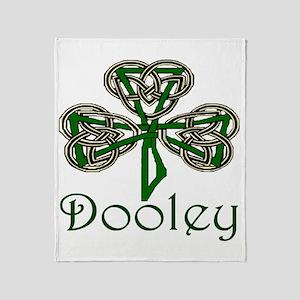 Dooley Shamrock Throw Blanket
