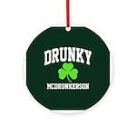 Drunky Ornament (Round)